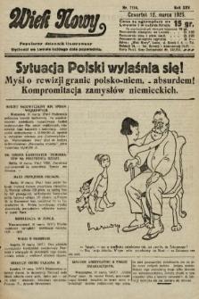 Wiek Nowy : popularny dziennik ilustrowany. 1925, nr7114