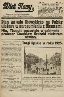 Wiek Nowy : popularny dziennik ilustrowany. 1925, nr7122