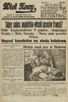 Wiek Nowy : popularny dziennik ilustrowany. 1925, nr7125