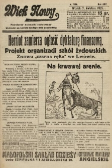 Wiek Nowy : popularny dziennik ilustrowany. 1925, nr7136