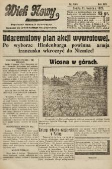 Wiek Nowy : popularny dziennik ilustrowany. 1925, nr7140