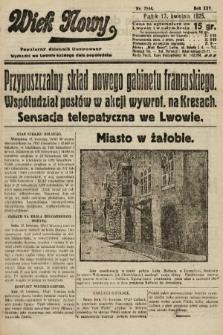 Wiek Nowy : popularny dziennik ilustrowany. 1925, nr7144