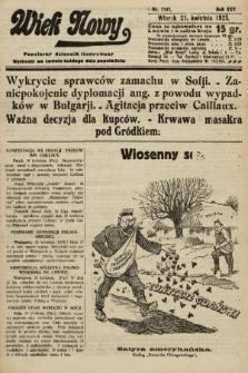Wiek Nowy : popularny dziennik ilustrowany. 1925, nr7147