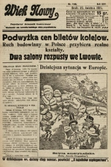 Wiek Nowy : popularny dziennik ilustrowany. 1925, nr7148