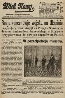 Wiek Nowy : popularny dziennik ilustrowany. 1925, nr7151