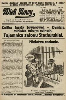 Wiek Nowy : popularny dziennik ilustrowany. 1925, nr7152