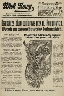 Wiek Nowy : popularny dziennik ilustrowany. 1925, nr7160