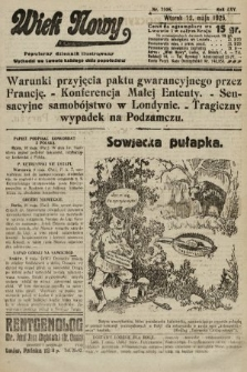 Wiek Nowy : popularny dziennik ilustrowany. 1925, nr7164