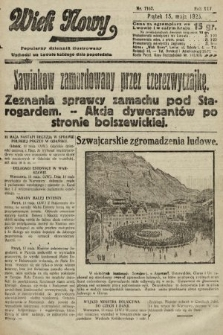 Wiek Nowy : popularny dziennik ilustrowany. 1925, nr7167