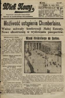 Wiek Nowy : popularny dziennik ilustrowany. 1925, nr7168