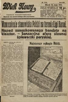 Wiek Nowy : popularny dziennik ilustrowany. 1925, nr7170