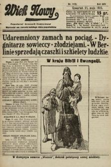 Wiek Nowy : popularny dziennik ilustrowany. 1925, nr7172