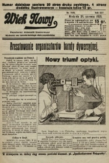 Wiek Nowy : popularny dziennik ilustrowany. 1925, nr7196