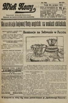 Wiek Nowy : popularny dziennik ilustrowany. 1925, nr7198