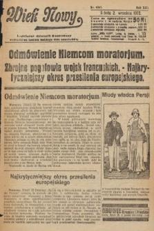 Wiek Nowy : popularny dziennik ilustrowany. 1922, nr6367