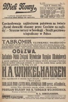 Wiek Nowy : popularny dziennik ilustrowany. 1922, nr6372