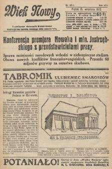 Wiek Nowy : popularny dziennik ilustrowany. 1922, nr6377