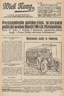 Wiek Nowy : popularny dziennik ilustrowany. 1922, nr6380