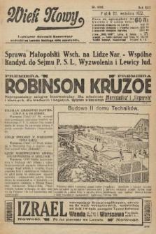 Wiek Nowy : popularny dziennik ilustrowany. 1922, nr6383