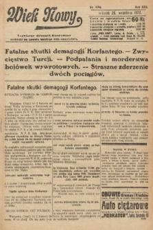 Wiek Nowy : popularny dziennik ilustrowany. 1922, nr6386