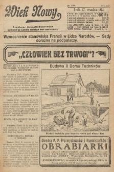 Wiek Nowy : popularny dziennik ilustrowany. 1922, nr6387