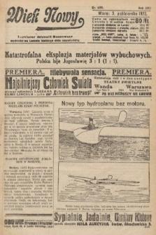 Wiek Nowy : popularny dziennik ilustrowany. 1922, nr6391
