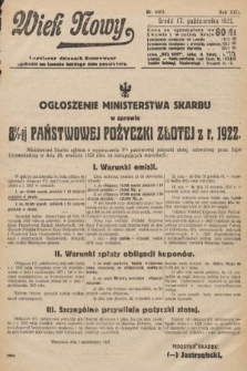 Wiek Nowy : popularny dziennik ilustrowany. 1922, nr6404
