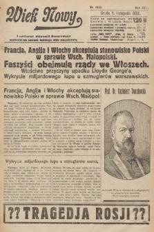 Wiek Nowy : popularny dziennik ilustrowany. 1922, nr6412