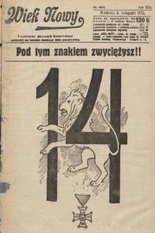 Wiek Nowy : popularny dziennik ilustrowany. 1922, nr6415