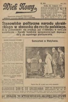 Wiek Nowy : popularny dziennik ilustrowany. 1922, nr6429