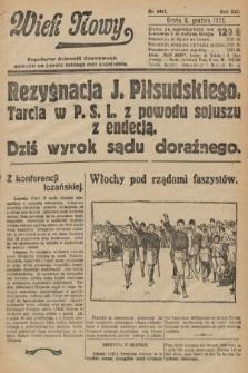 Wiek Nowy : popularny dziennik ilustrowany. 1922, nr6441
