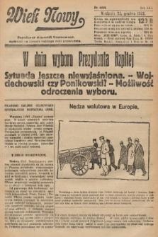Wiek Nowy : popularny dziennik ilustrowany. 1922, nr6444