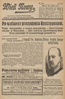 Wiek Nowy : popularny dziennik ilustrowany. 1922, nr6445