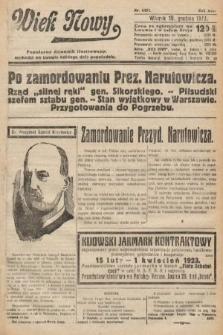 Wiek Nowy : popularny dziennik ilustrowany. 1922, nr6451