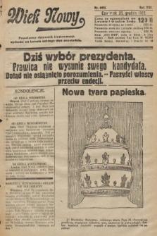Wiek Nowy : popularny dziennik ilustrowany. 1922, nr6453