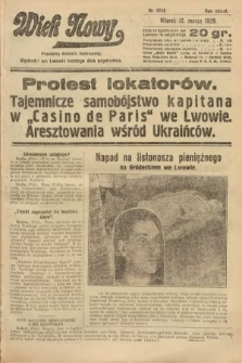Wiek Nowy : popularny dziennik ilustrowany. 1929, nr8316