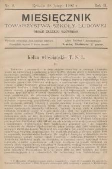 Miesięcznik Towarzystwa Szkoły Ludowej : organ Zarządu Głównego. 1902, nr2