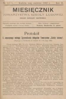 Miesięcznik Towarzystwa Szkoły Ludowej : organ Zarządu Głównego. 1902, nr5-6
