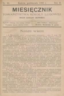 Miesięcznik Towarzystwa Szkoły Ludowej : organ Zarządu Głównego. 1902, nr10