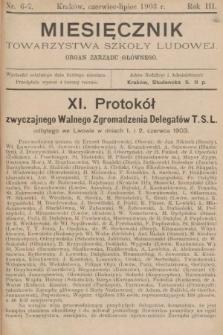Miesięcznik Towarzystwa Szkoły Ludowej : organ Zarządu Głównego. 1903, nr6-7