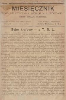 Miesięcznik Towarzystwa Szkoły Ludowej : organ Zarządu Głównego. 1903, nr11