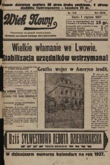 Wiek Nowy : popularny dziennik ilustrowany. 1927, nr7658