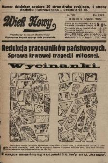 Wiek Nowy : popularny dziennik ilustrowany. 1927, nr7663
