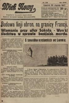 Wiek Nowy : popularny dziennik ilustrowany. 1927, nr7672