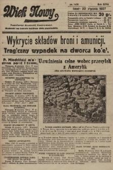 Wiek Nowy : popularny dziennik ilustrowany. 1927, nr7674