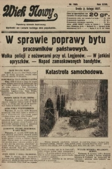 Wiek Nowy : popularny dziennik ilustrowany. 1927, nr7683