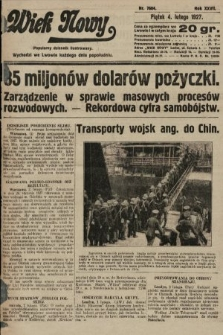 Wiek Nowy : popularny dziennik ilustrowany. 1927, nr7684