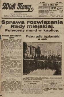 Wiek Nowy : popularny dziennik ilustrowany. 1927, nr7685