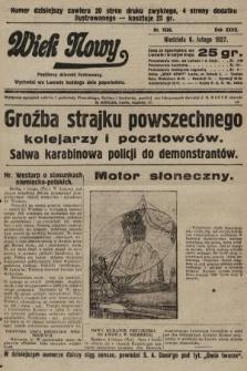 Wiek Nowy : popularny dziennik ilustrowany. 1927, nr7686