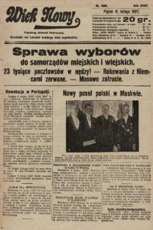 Wiek Nowy : popularny dziennik ilustrowany. 1927, nr7690